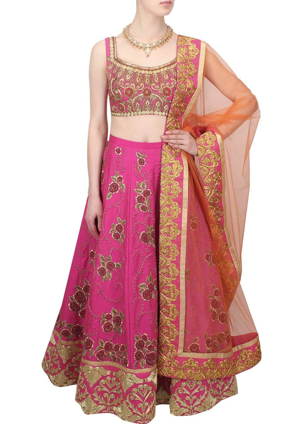 Zari Embroidered Bridal Lehenga Set