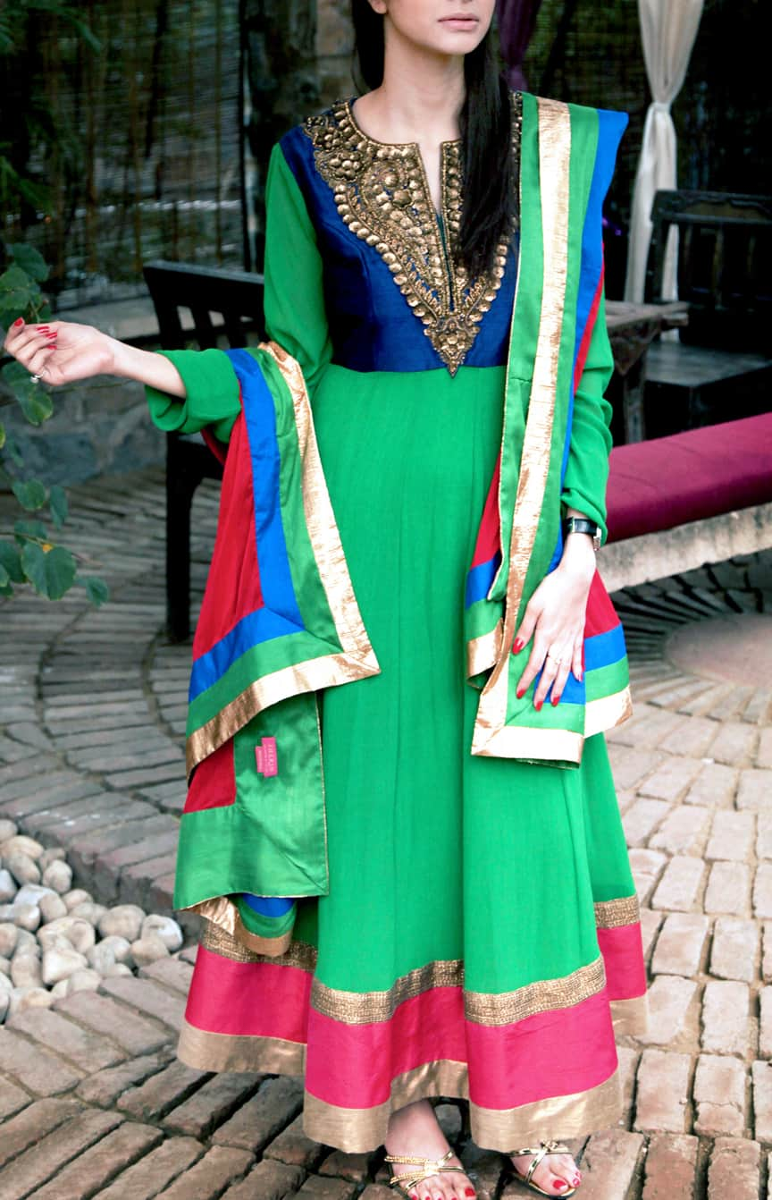 Zardozi Embroidered Anarkali Set