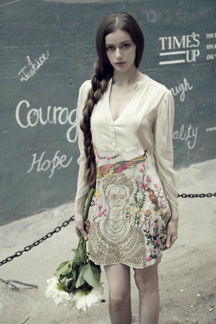 Off white tunic dress