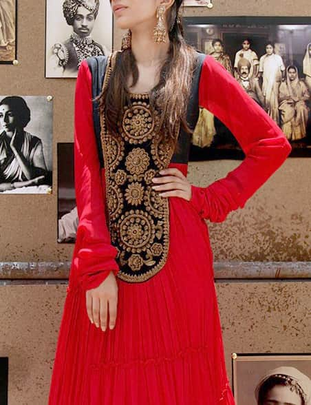 Embroidered Full Length Anarkali Set