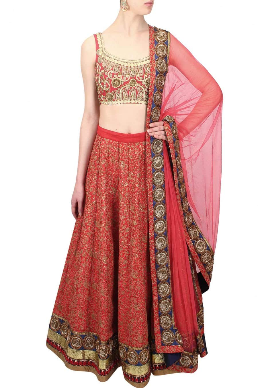 Zardozi Sequin Embroidered Lehenga Set