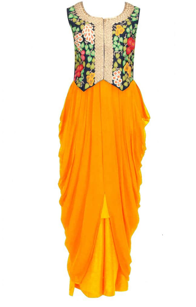 Mustard yellow with embroidered waistcoat